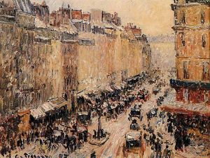 Camille Pissarro - Rue Saint-Lazar under Snow