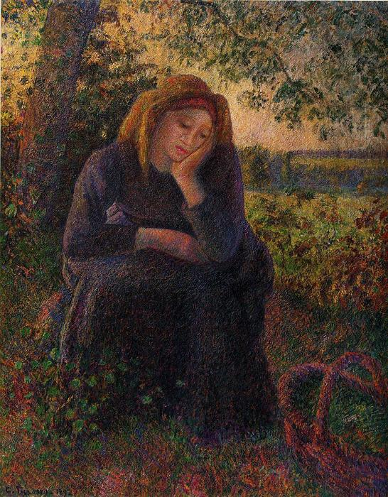 famous painting Seated Peasant of Camille Pissarro