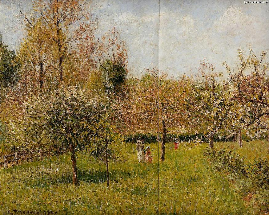 famous painting Spring at Eragny of Camille Pissarro