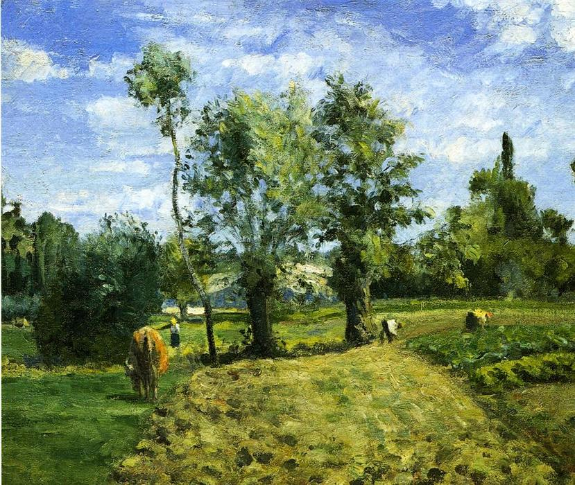 famous painting Spring Morning, Pontoise of Camille Pissarro