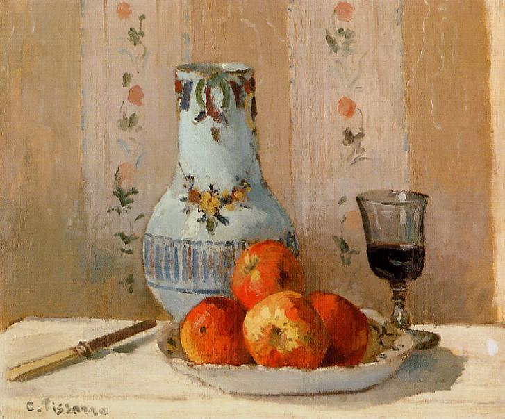 famous painting Still Life with Apples and Pitcher of Camille Pissarro
