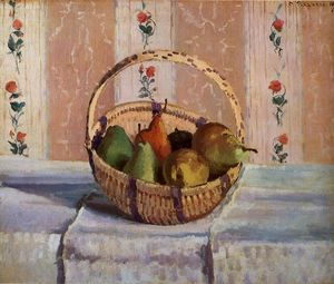 Camille Pissarro - Still Life, Apples and Pears in a Round Basket