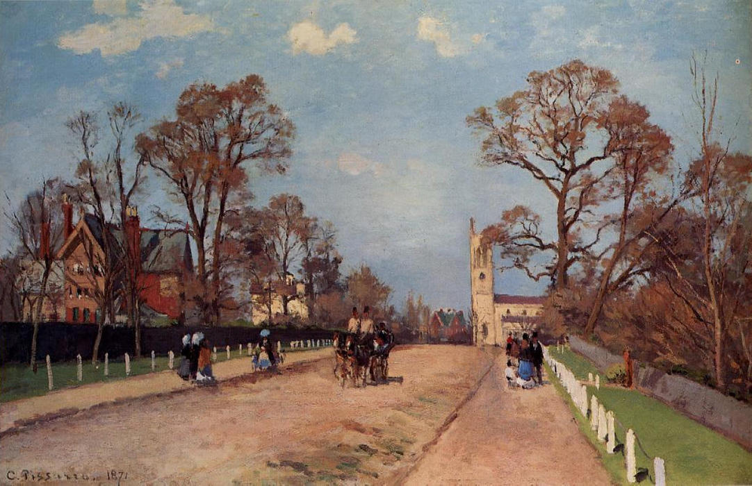 famous painting The Avenue, Sydenham of Camille Pissarro