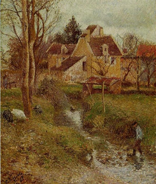 famous painting The Brook at Osny of Camille Pissarro