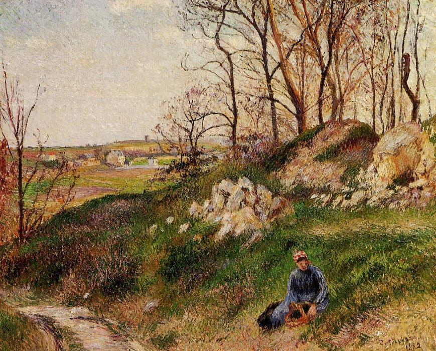 famous painting The Chou Quarries, Pontoise of Camille Pissarro