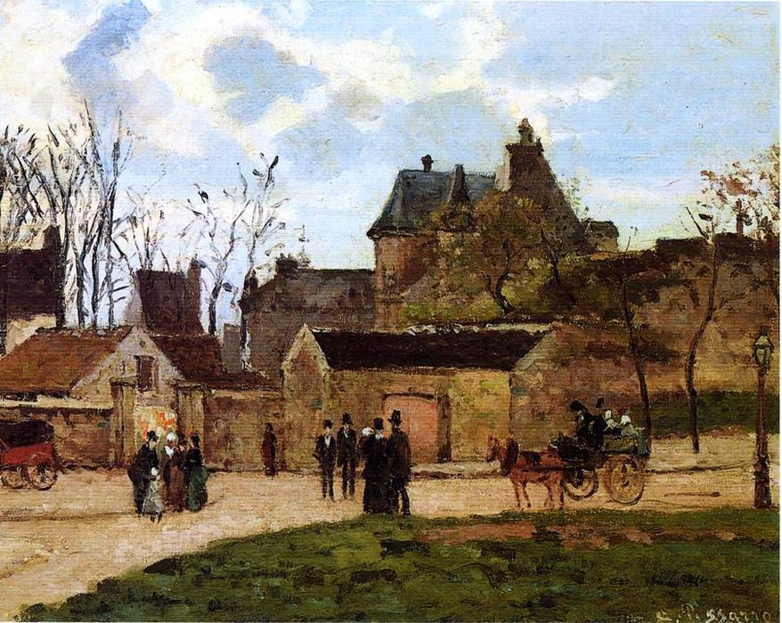 famous painting The Court House, Pontoise of Camille Pissarro