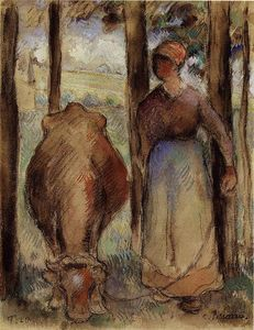 Camille Pissarro - The Cowherd (aka Young Peasant)