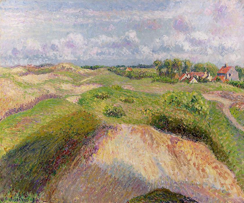 famous painting The Dunes at Knocke, Belgium of Camille Pissarro
