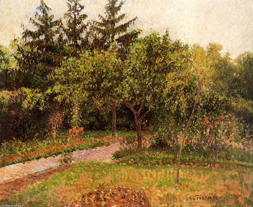 famous painting The Garden at Eragny of Camille Pissarro