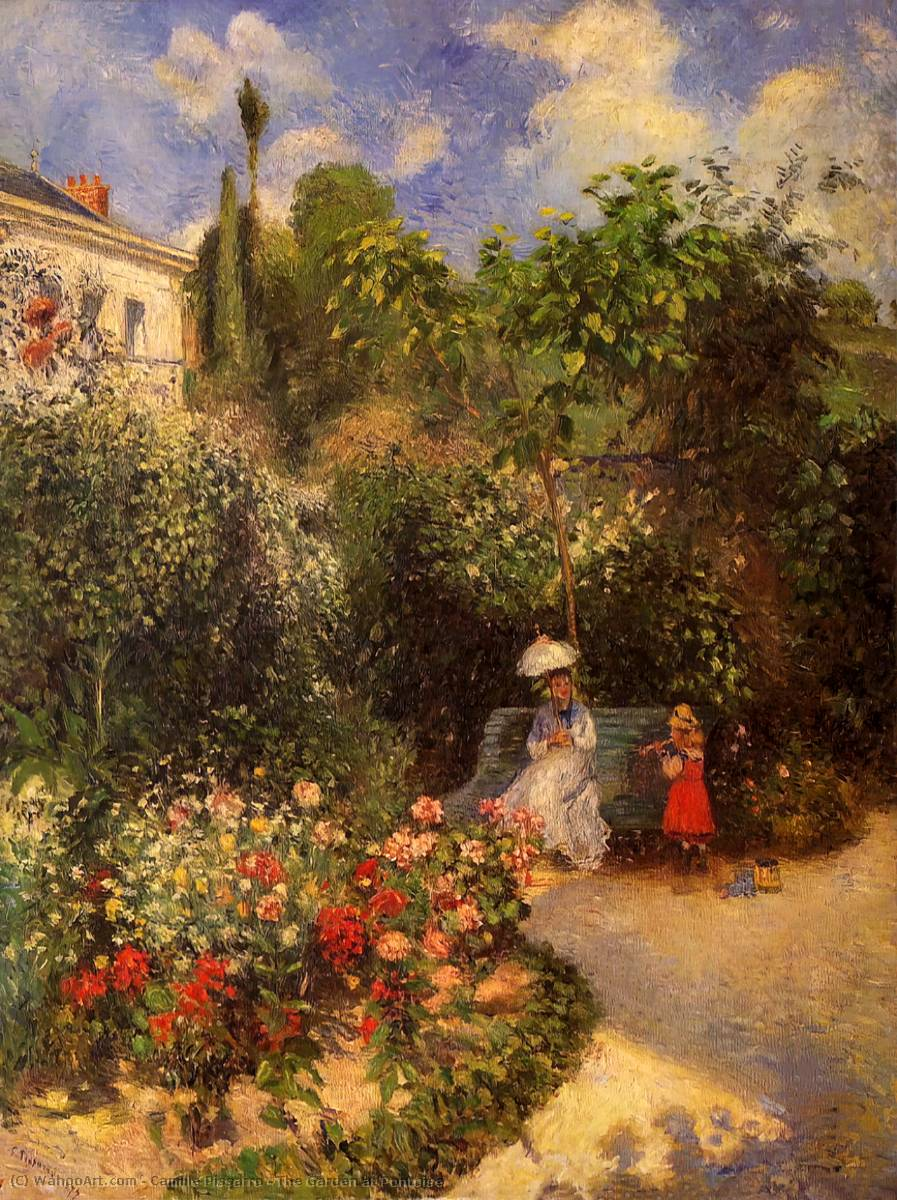 famous painting The Garden at Pontoise of Camille Pissarro