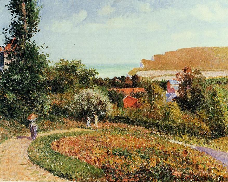 famous painting The Garden of the Hotel Berneval of Camille Pissarro