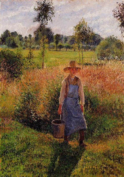 famous painting The Gardener, Afternoon Sun, Eragny of Camille Pissarro