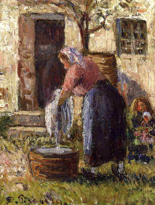 famous painting The Laundry Woman of Camille Pissarro