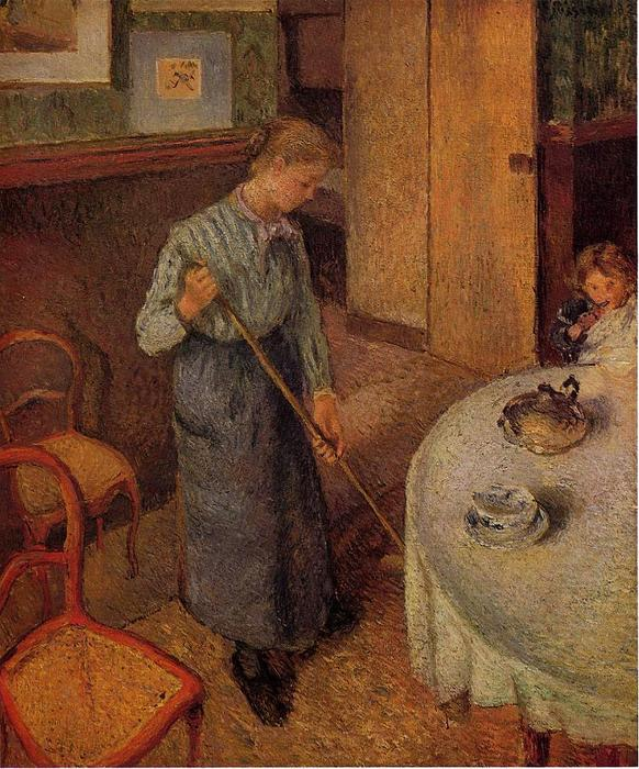 famous painting The Little Country Maid of Camille Pissarro