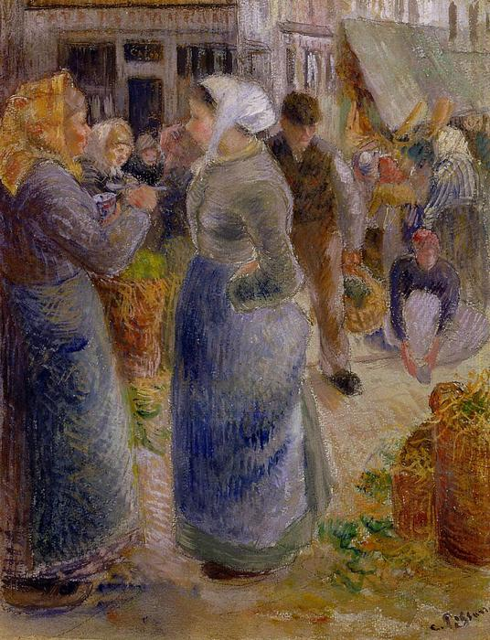 famous painting The Market of Camille Pissarro