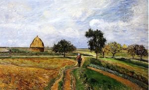 Camille Pissarro - The Old Ennery Road in Pontoise