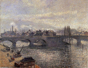 Camille Pissarro - The Pont Corneille, Rouen, Morning Effect
