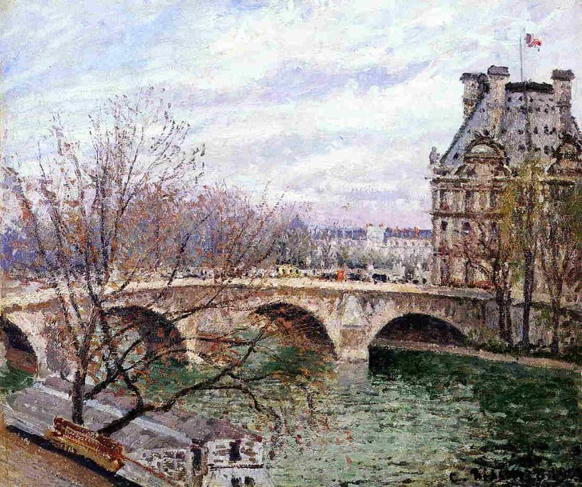 famous painting The Pont Royal and the Pavillon de Flore of Camille Pissarro