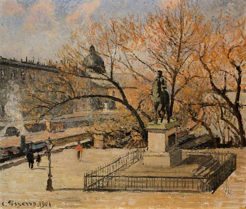 famous painting The Pont Neuf of Camille Pissarro