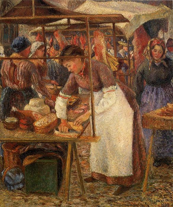 famous painting The Pork Butcher of Camille Pissarro