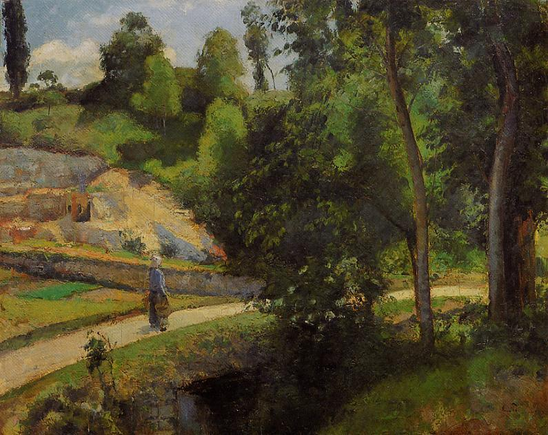 famous painting The Quarry, Pontoise of Camille Pissarro