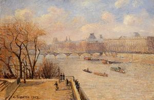 Camille Pissarro - The Raised Terrace of the Pont Neuf