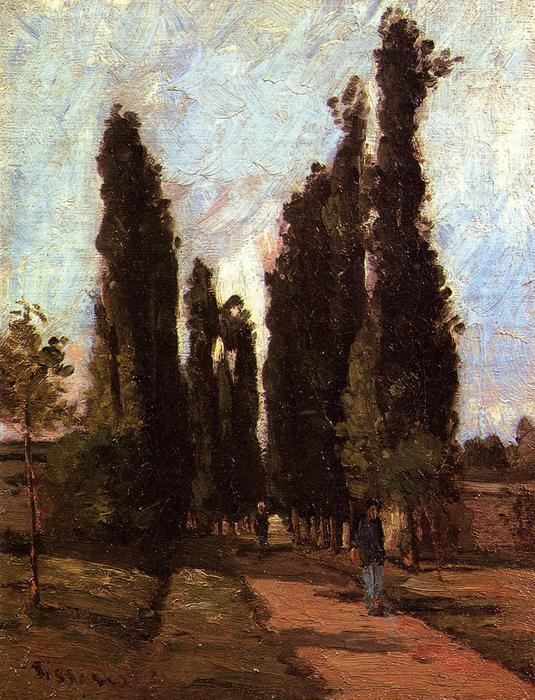 famous painting The road of Camille Pissarro