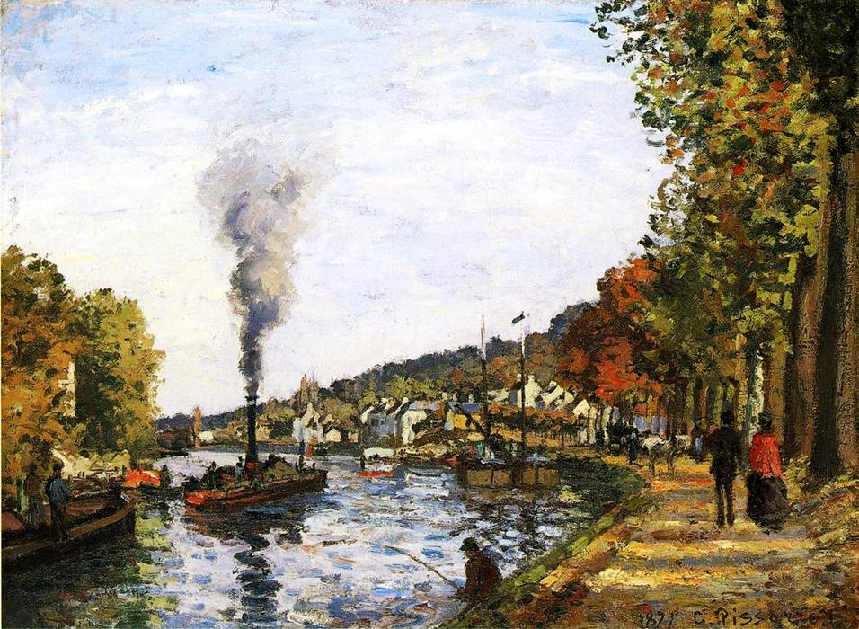 famous painting The Seine at Marly of Camille Pissarro