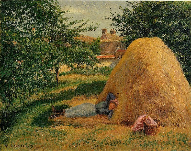 famous painting The Siesta of Camille Pissarro