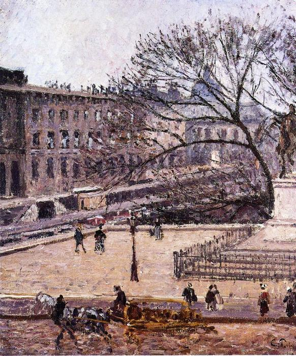 famous painting The Treasury and the Academy, Gray Weather of Camille Pissarro