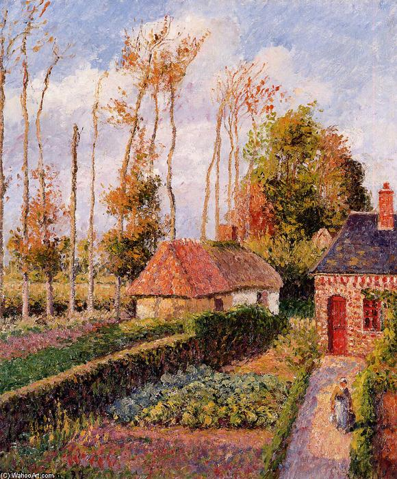famous painting Varengeville, Sunset of Camille Pissarro