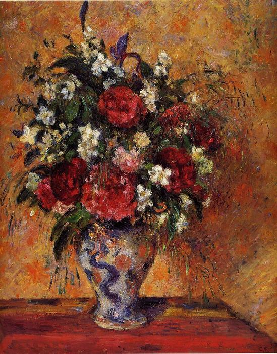 famous painting Vase of Flowers of Camille Pissarro