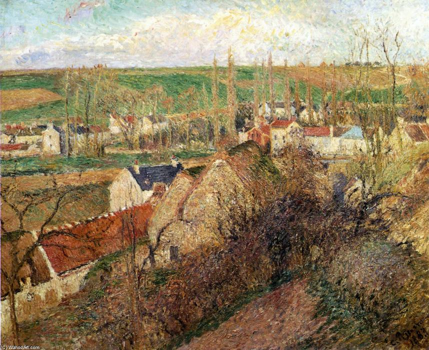 famous painting View of Osny near Pontoise of Camille Pissarro