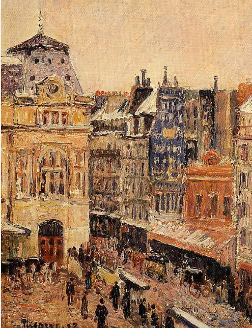 famous painting View of Paris, Rue d'Amsterdam of Camille Pissarro