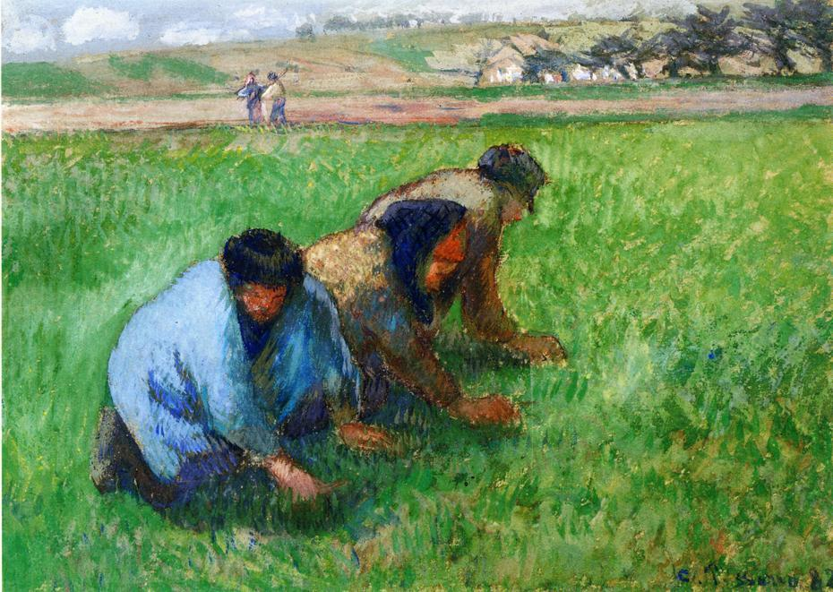 famous painting Weeders of Camille Pissarro