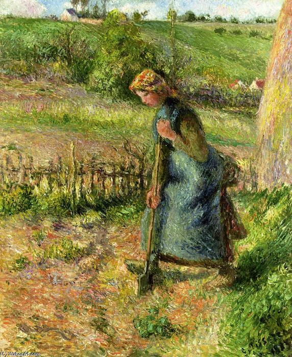 famous painting Woman Digging of Camille Pissarro