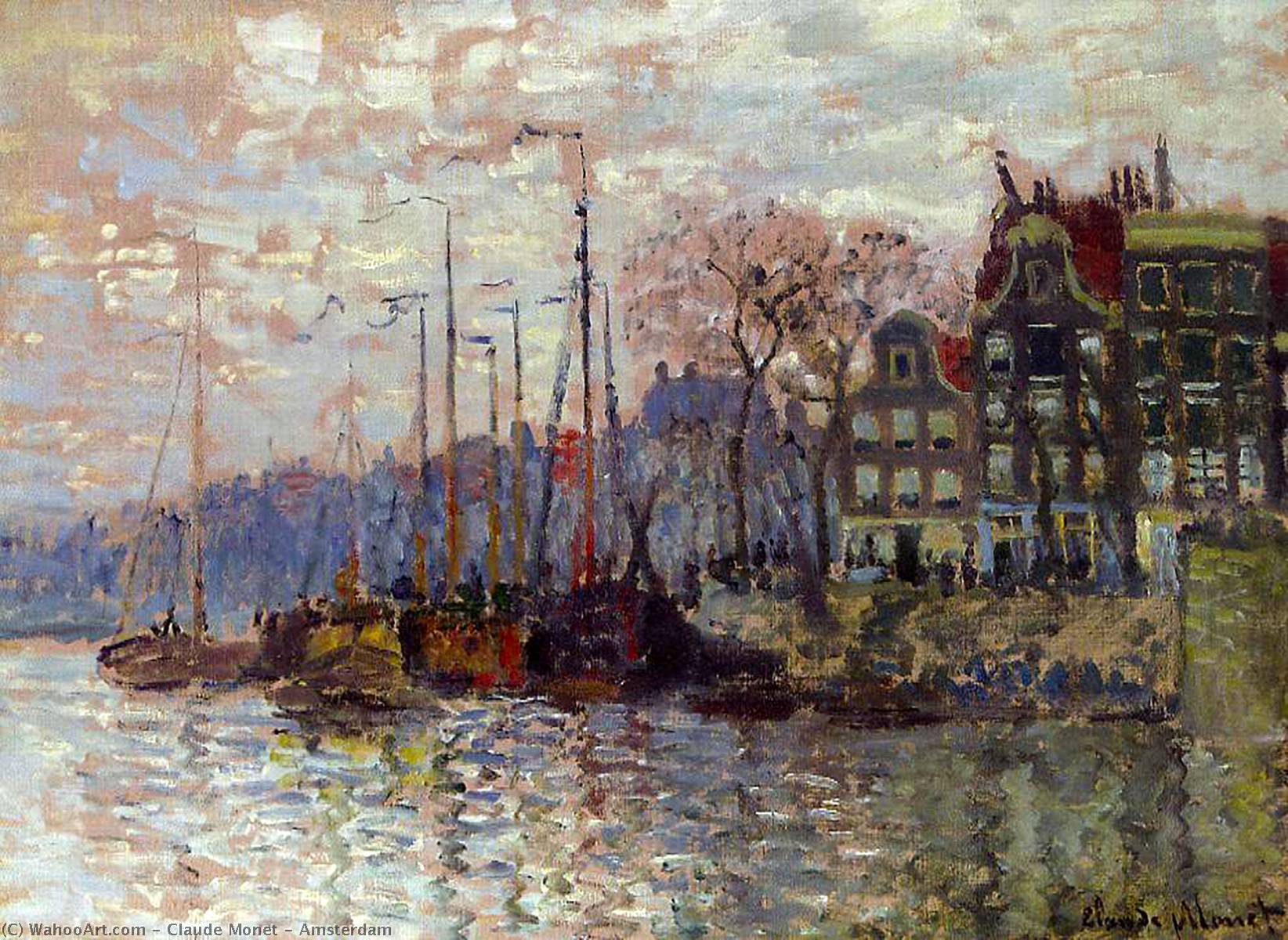 famous painting Amsterdam of Claude Monet