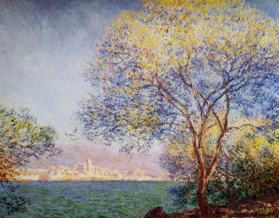famous painting Antibes in the Morning of Claude Monet