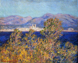 Claude Monet - Antibes Seen from the Cape, Mistral Wind