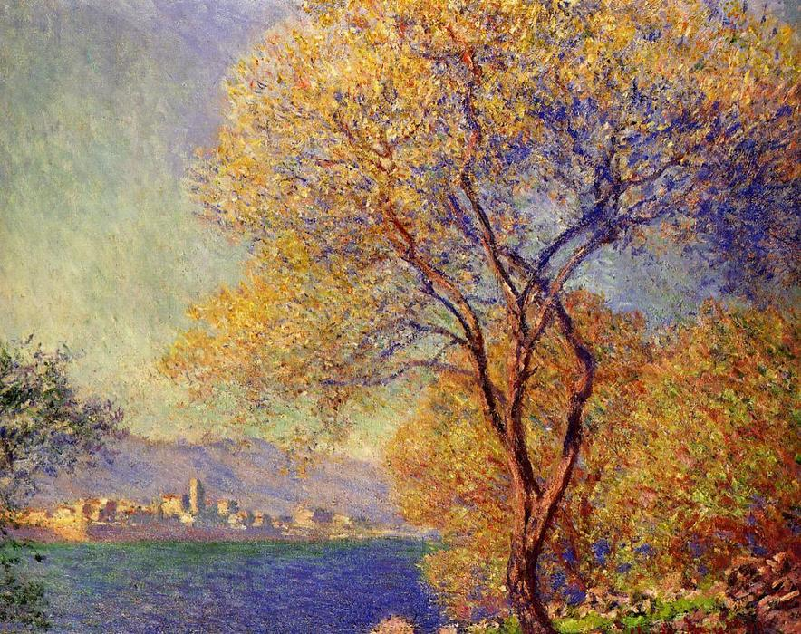 famous painting Antibes Seen from the Salis Gardens 1 of Claude Monet