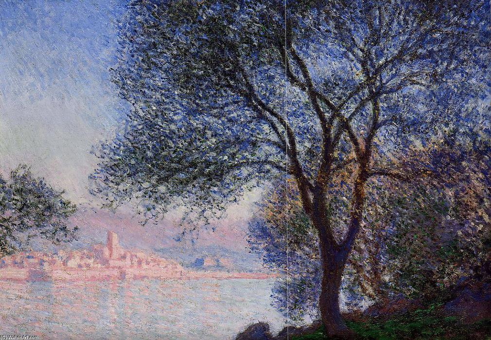 famous painting Antibes Seen from the Salis Gardens of Claude Monet