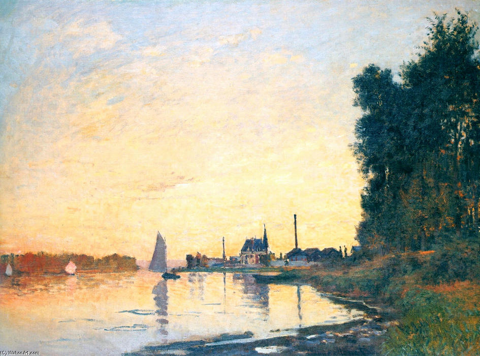 famous painting Argenteuil, Late Afternoon of Claude Monet
