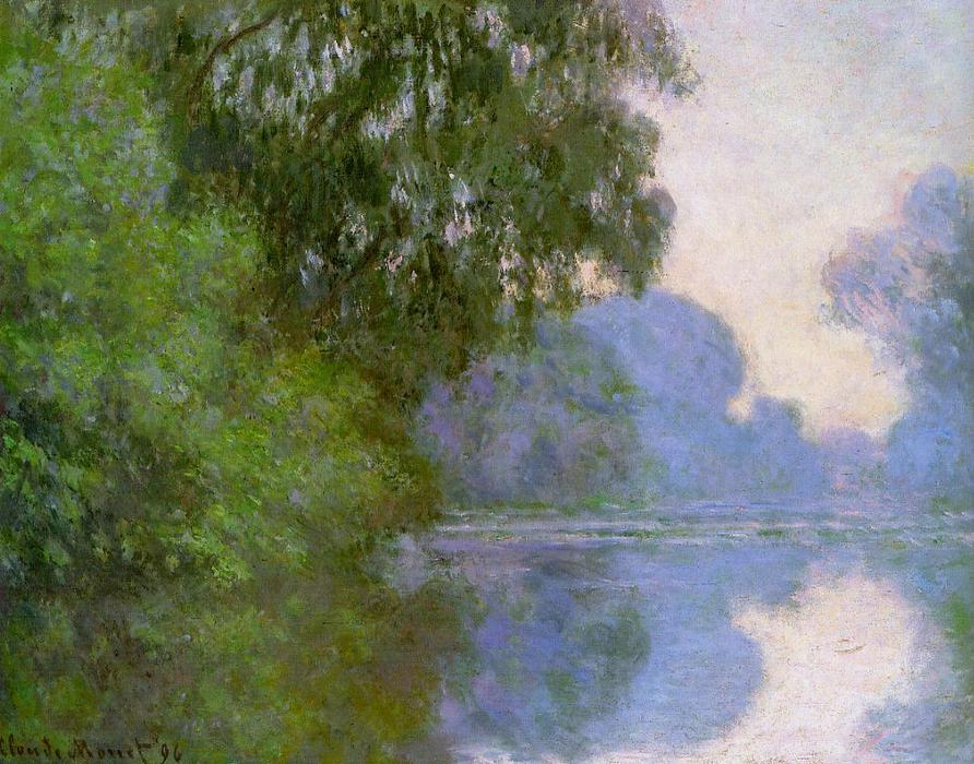 famous painting Arm of the Seine near Giverny 1 of Claude Monet