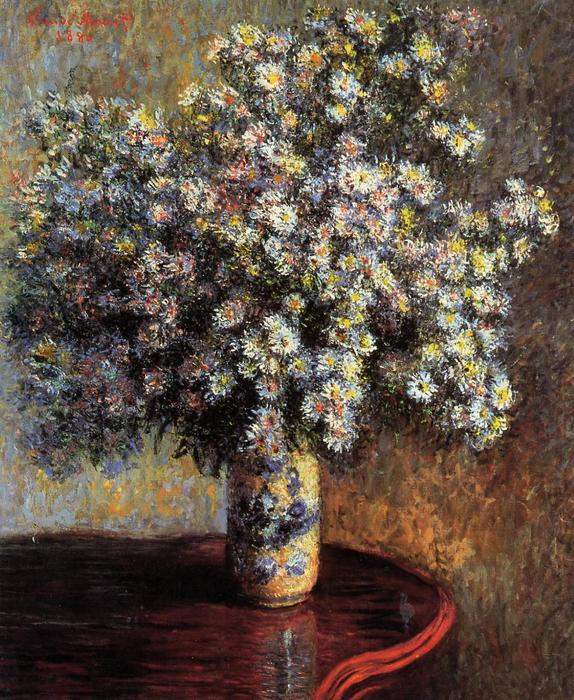 famous painting Asters of Claude Monet