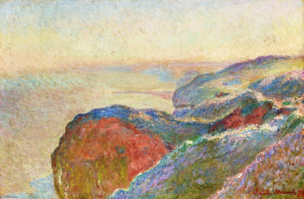 famous painting At Val Saint-Nicolas near Dieppe, Morning of Claude Monet