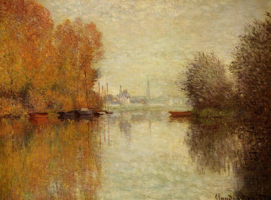 famous painting Autumn on the Seine at Argenteuil of Claude Monet