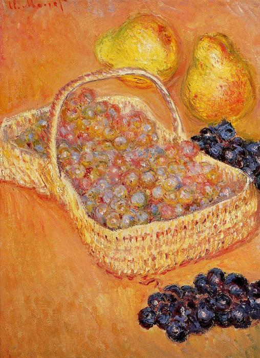 famous painting Basket of Grapes, Quinces and Pears of Claude Monet