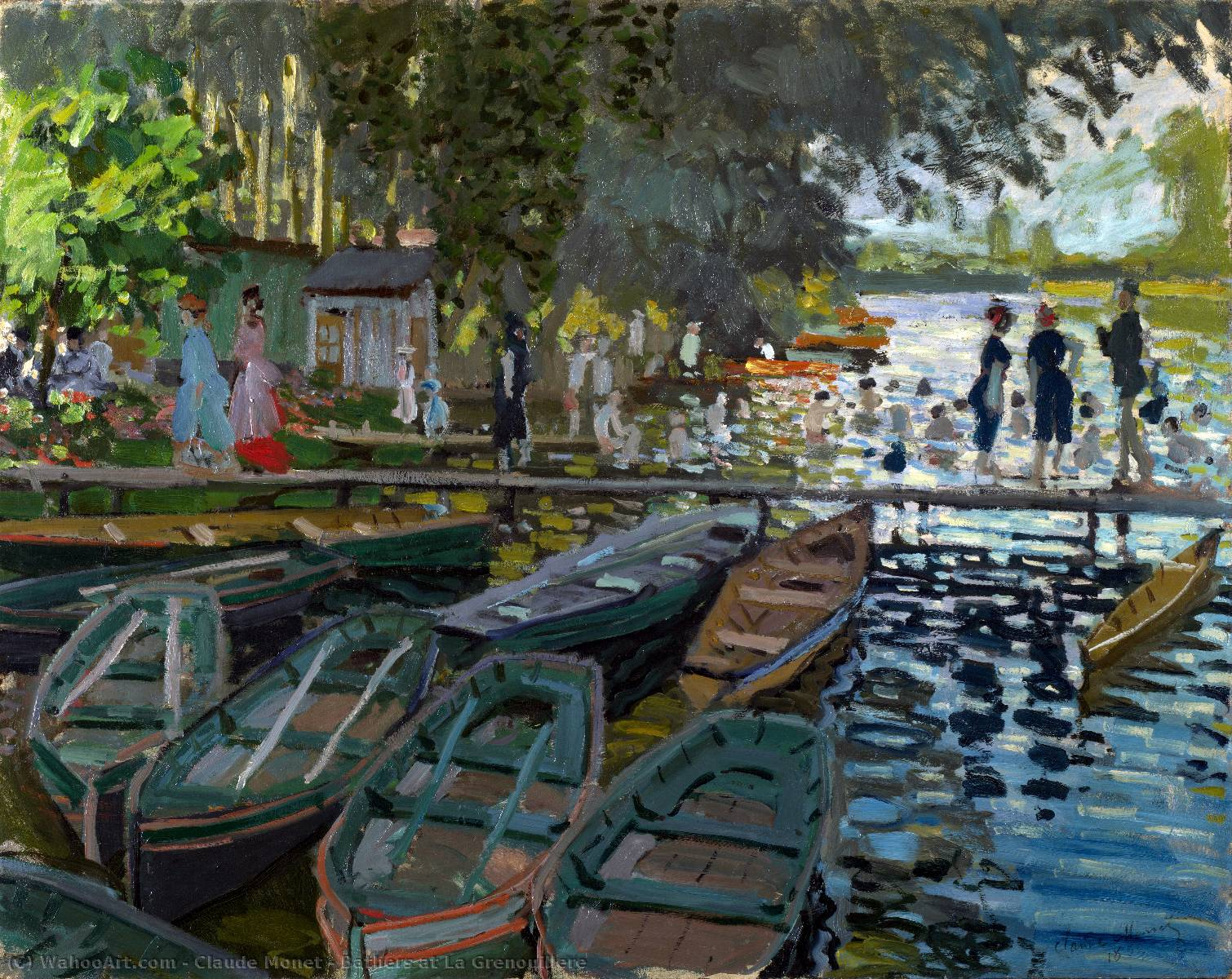 Order Museum Quality Copies Impressionism | Bathers at La Grenouillere by Claude Monet | TopImpressionists.com