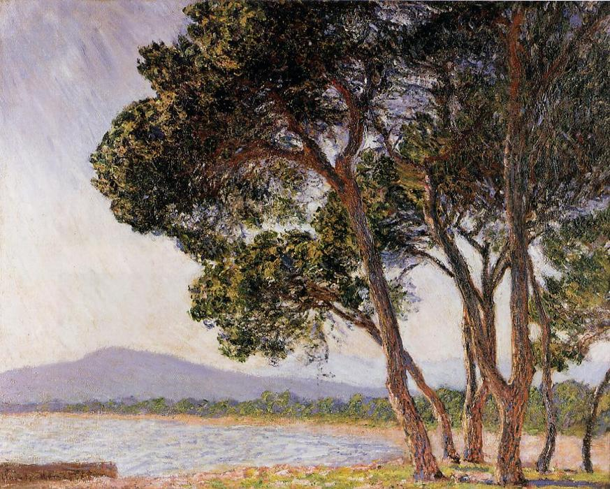 famous painting Beach in Juan-les-Pins of Claude Monet