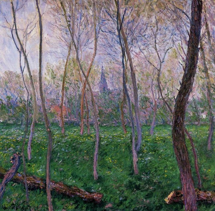 famous painting Bennecourt 1 of Claude Monet